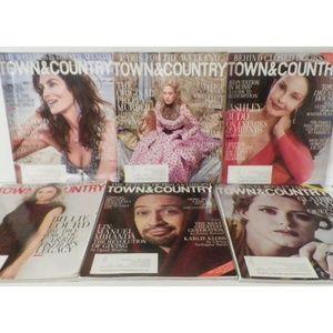 6 Lot Town & Country Magazines 2017 to 2018